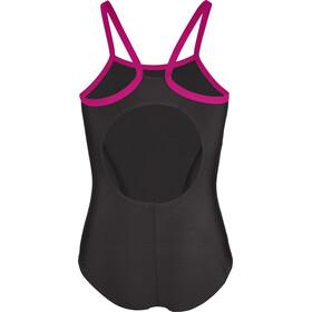 speedo Gala Logo Thinstrap Muscleback Swimsuit Girls, black/electric pink